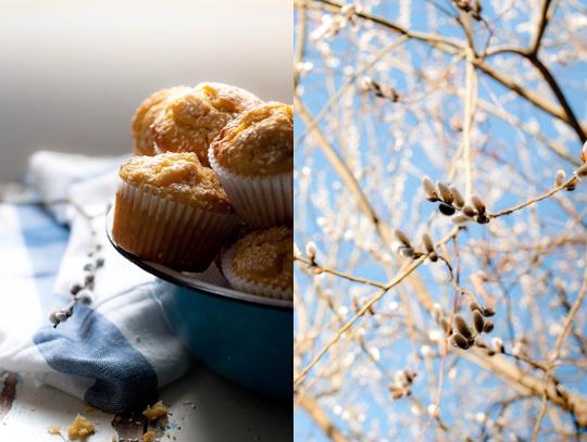 Mangós-kukoricás muffin szezámmaggal vagy pisztáciával, ananászos tejszínhabbal