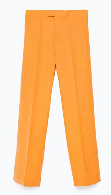 Rebajas SS 2015 fondo de armario pantalones mostaza