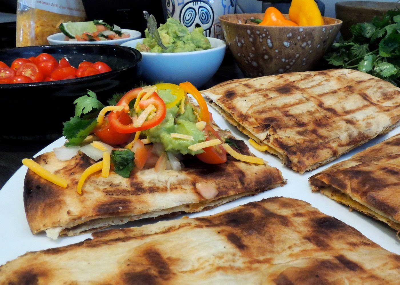 grilled tortillas with salsa