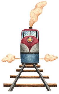Imagem para decoupage de trem