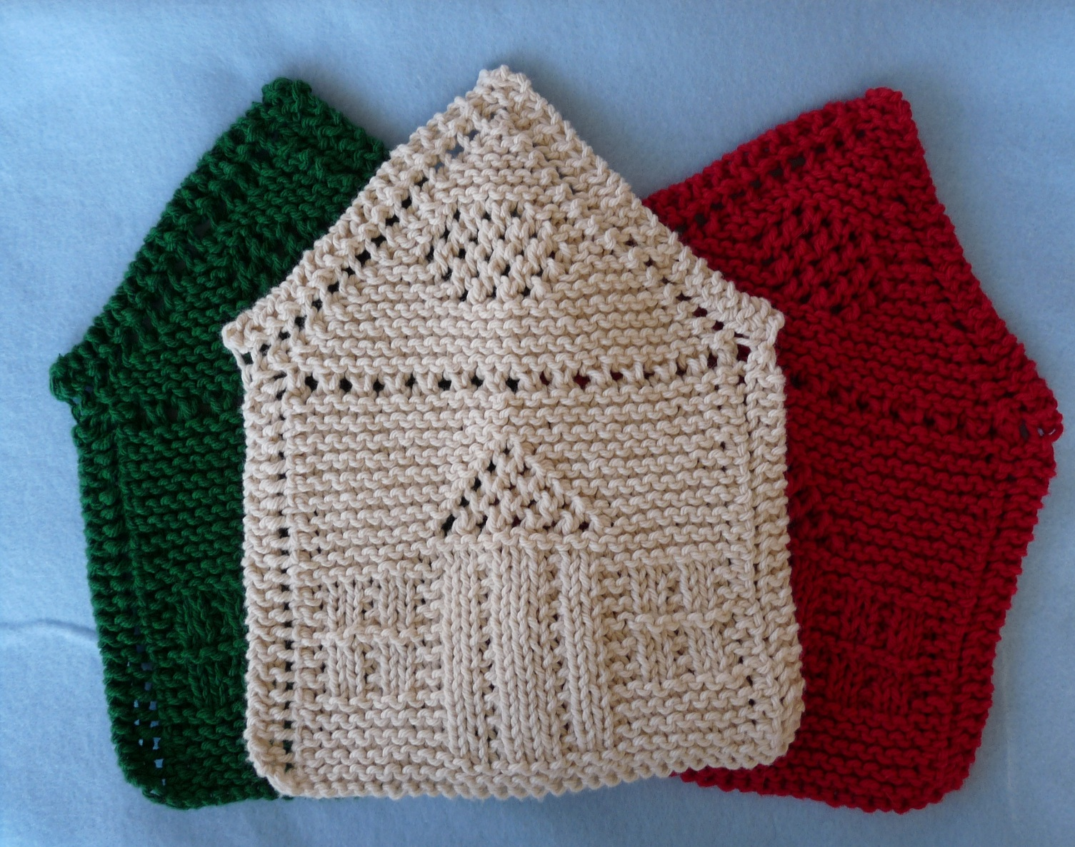Free Knitting Patterns Christmas Dishcloth : Whiskers & Wool: January 2012