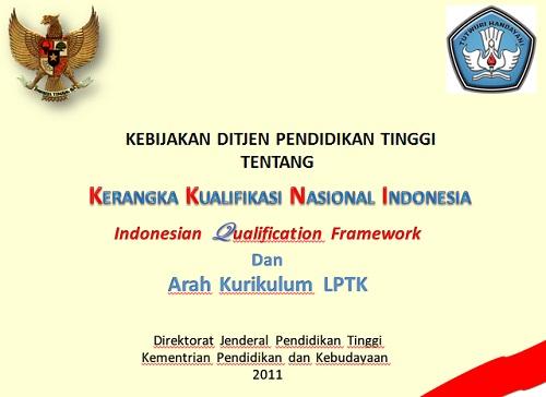 Download Gratis Kebijakan DIKTI Perihal KKNI Bagi Kurikulum Baru 2013
