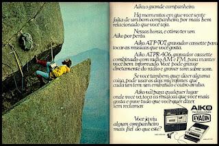 Aiko - Evadin, cassette, anos 70.  1974. década de 70. os anos 70; propaganda na década de 70; Brazil in the 70s, história anos 70; Oswaldo Hernandez;