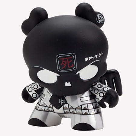 "Back in Black Skullhead 8"" Dunny by Huck Gee"