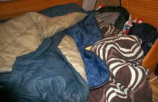 My multi-sleeping bag nest