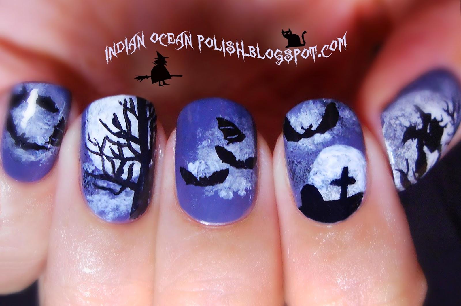Indian Ocean Polish A Few Halloween Nail Art Ideas For 2013