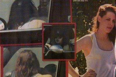 fotos de kristen stewart engañando a robert pattinson en un auto