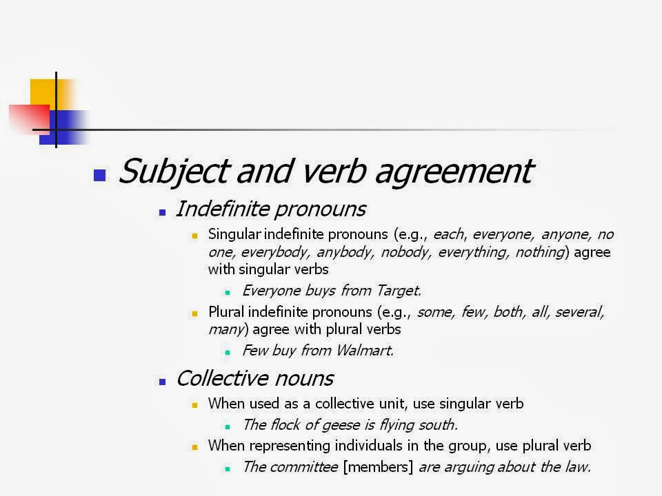 Writing Is Painless Subject Verb Agreement