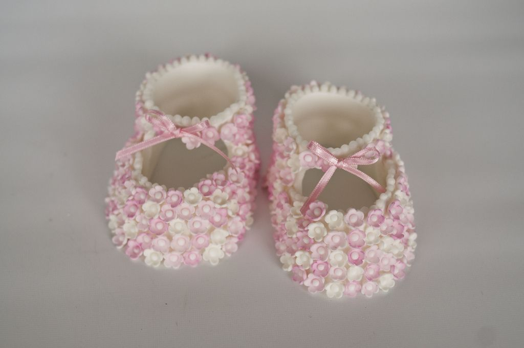 5. Pink Blossom Booties by Helena Kastanis