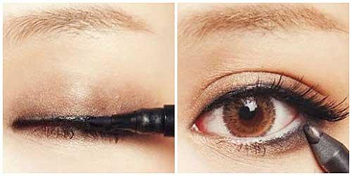 como delinear los ojos para que parezcan mas grandes