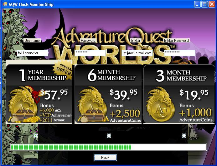 Cheat For Adventure Quest Worlds Free Coins Hack