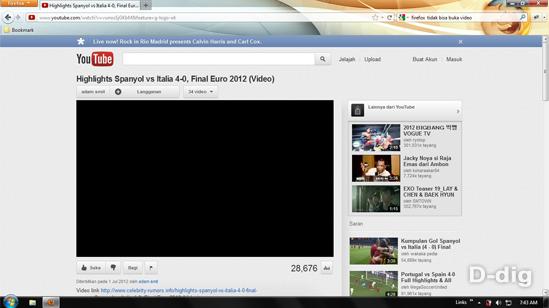 firefox tidak bisa buka video streaming termasuk youtube