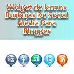 Widget de Iconos Burbujas De Social media para blogger