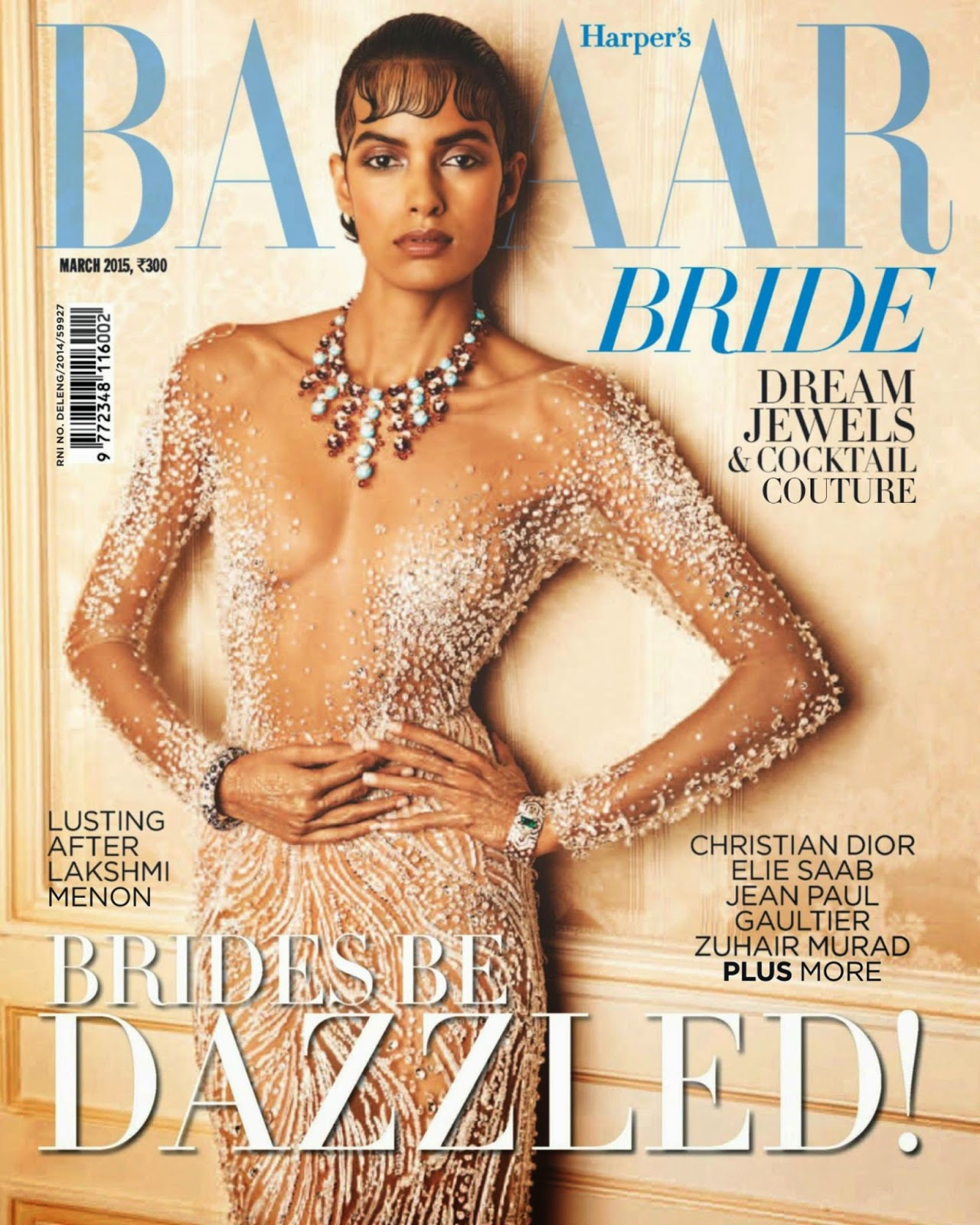 Fashion Model @ Lakshmi Menon - Harpers Bazaar Bride India, March 2015