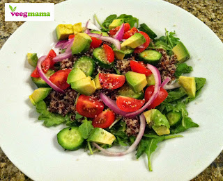 Quinoa Arugula Salad from VeegMama