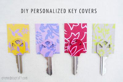Cómo decorar llaves con papel en Recicla Inventa