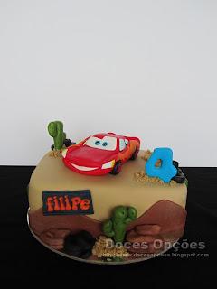 O Faísca McQueen foi ao 4.º aniversário do Filipe