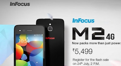Infocus M2 Now With 4G smartphone with Snapdragon 400 SoC for Rs. 5,499