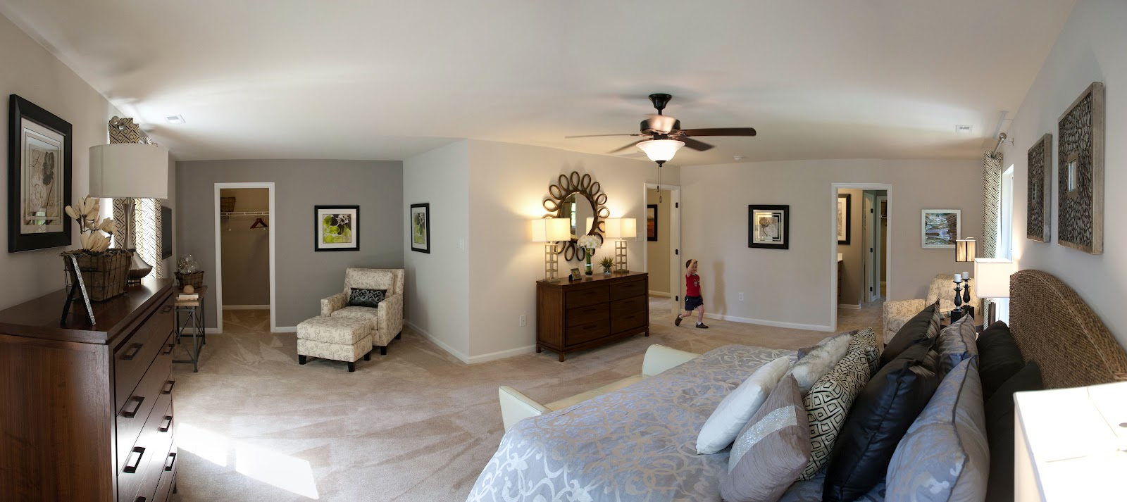 Rome ing in richmond model panorama per plan for Model home master bedrooms