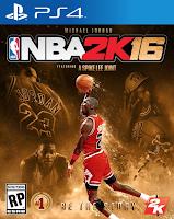 NBA 2K16 PS4 Michael Jordan Cover