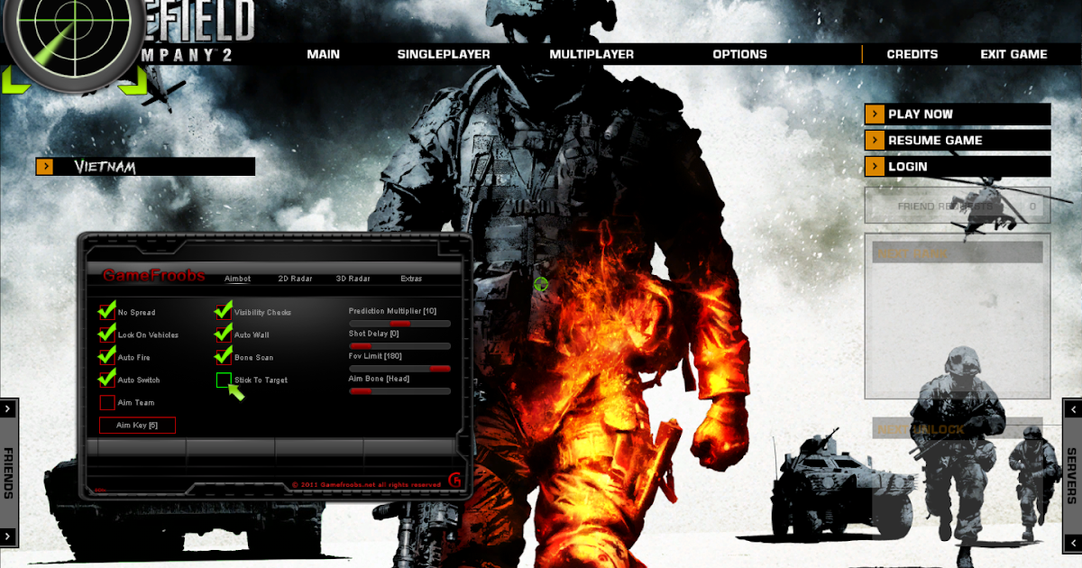 Battlefield Bad Company 2 / Vietnam Hack - AimBot