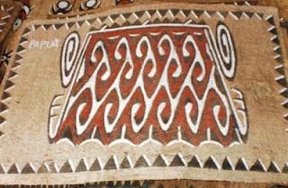 Lukisan Kulit Kayu Kombouw Sentani