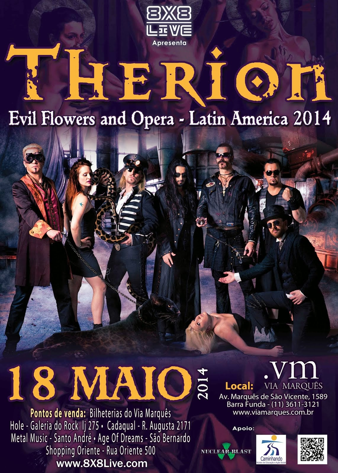 Therion Brazil tour 2014