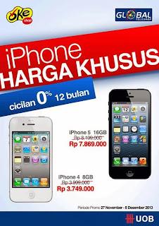iPhone Cashback hingga Rp 450.000 dengan kartu kredit UOB