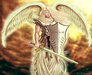 anjo, viking, homem, guerreiro, loiro