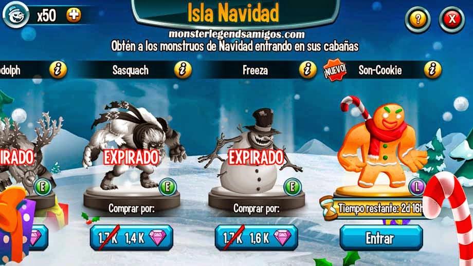imagen de la quinta guarida de la isla navidad de monster legends