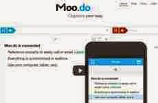 Moo.do: permite organizar online proyectos, listas de tareas, calendarios, contactos, recordatorios, y eventos