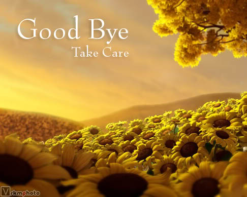 "... words..: never say ""GOOD BYE"