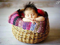 Sleeping Baby in basket Images of babies pics