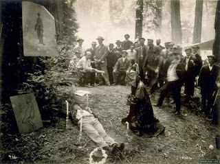 creepy scary weird wtf vintage photo image satanic human sacrifice forest witchcraft