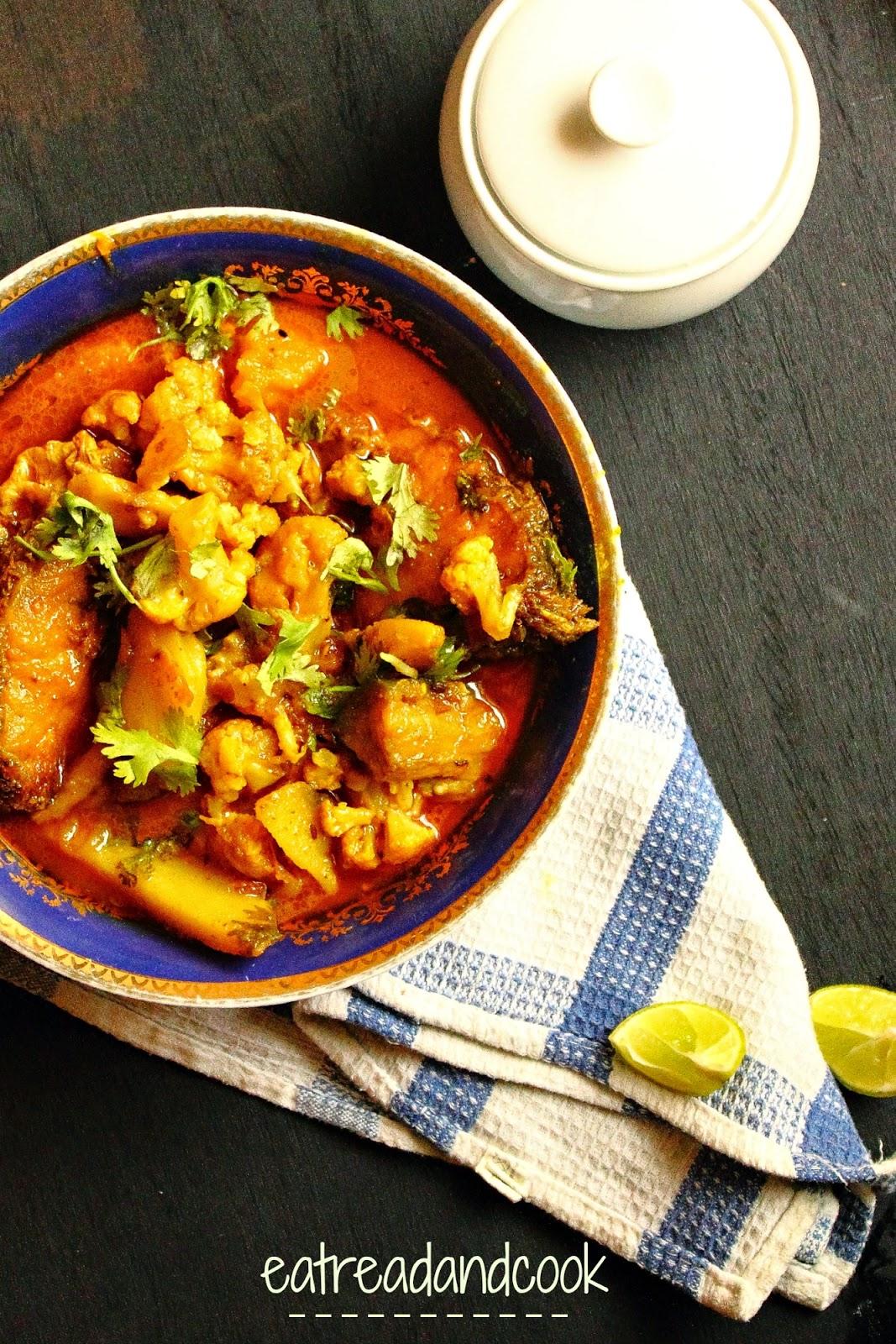 how to cook Sobji Die Macher Jhol