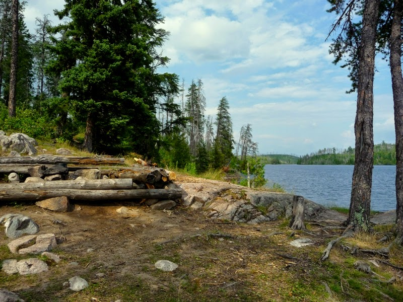 primitive campsite in the BWCAW