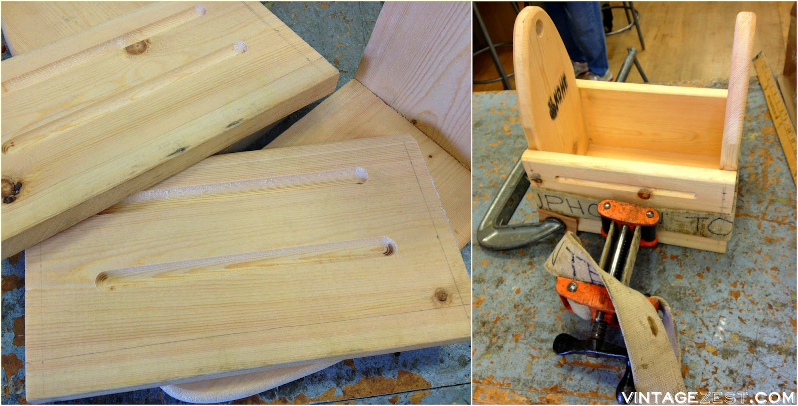 Wooden Beer Carrier (for a Six-Pack!) on Diane's Vintage Zest!  #diy #woodworking #wood