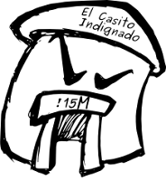 El Casito Indignado. Logo de la Asamblea del 15M