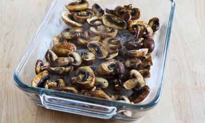 Kale, Mushroom, Feta, and Mozzarella Breakfast Casserole found on KalynsKitchen.com