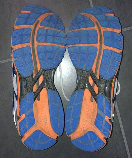 The sole of my Asics Kayano 19's after more than 480km