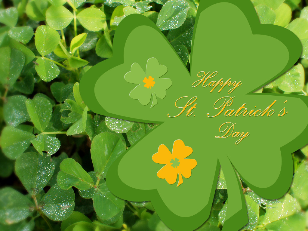 patricks day shamrock background - photo #34