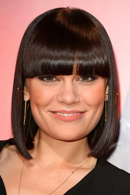Jessie J short haircut with bangs
