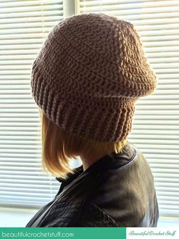 http://beautifulcrochetstuff.com/how-to-crochet-a-beanie-hat-free-pattern/