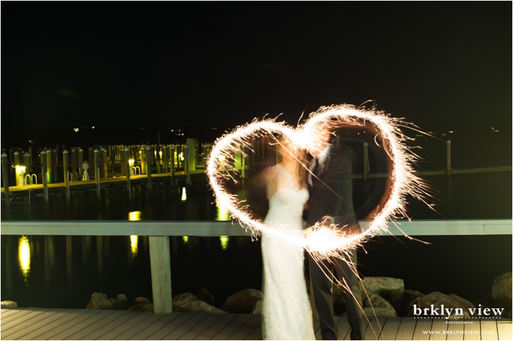 Wedding Heart Sparkler Photos