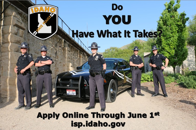Idaho State Police Opens Testing For Troopers April 25th Through June 1st