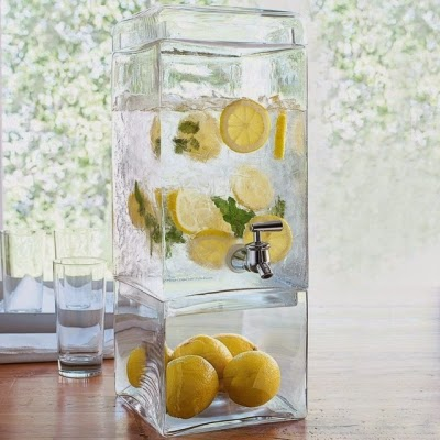 Square Glass Dispenser