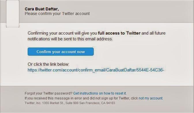 Cara Mengkonfirmasi Alamat Email Twitter