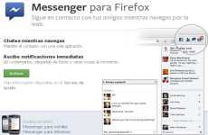 Facebook Messenger se agrega a Firefox