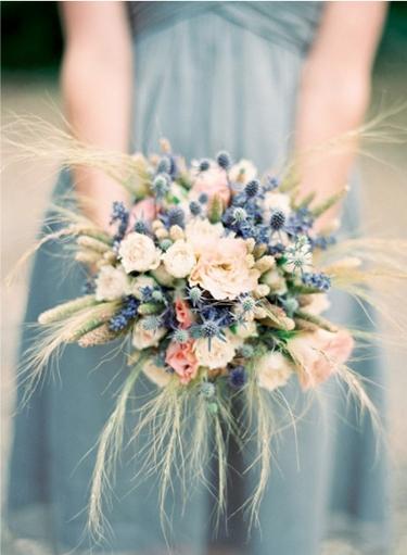 blue pink bouquet, blå rosa bukett