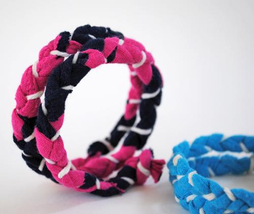 t shirt memory wire bracelet